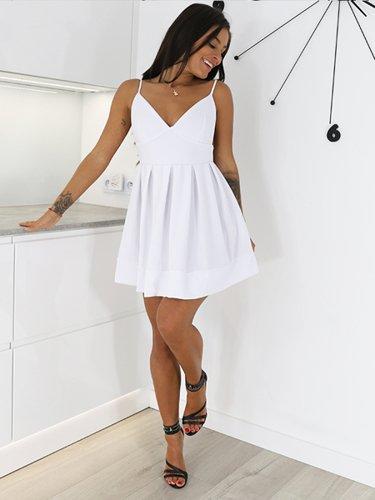 ELEGANCKA KOSZULA ZE STÓJKĄ biała X195 k01 biały | Bluzki