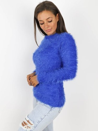 SWETER FLUFFY chabrowy X173